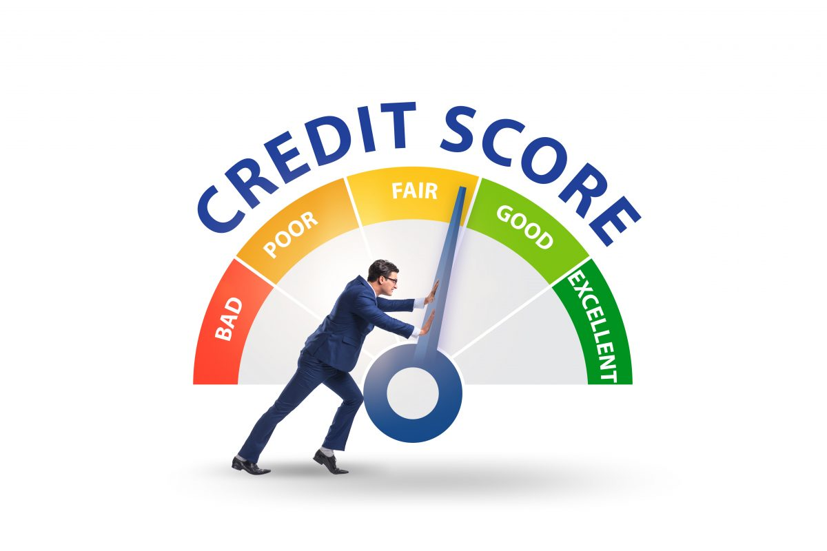 Men trying to improve credit score